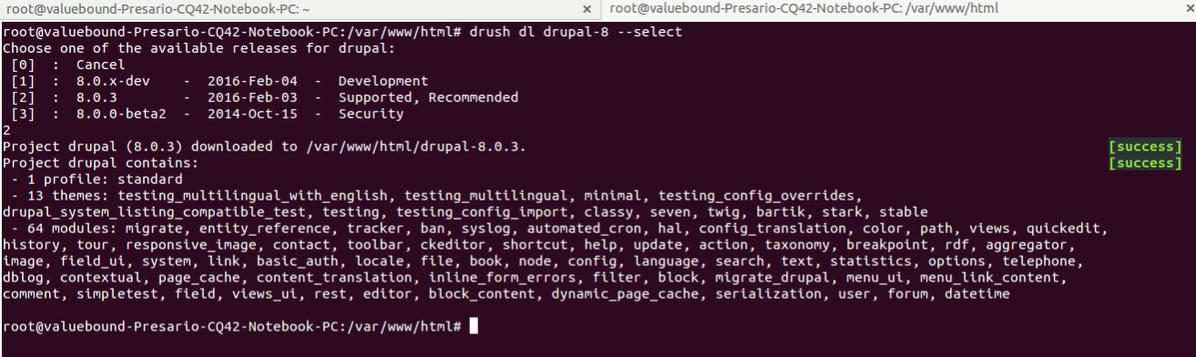 Drupal 8 Downloaded