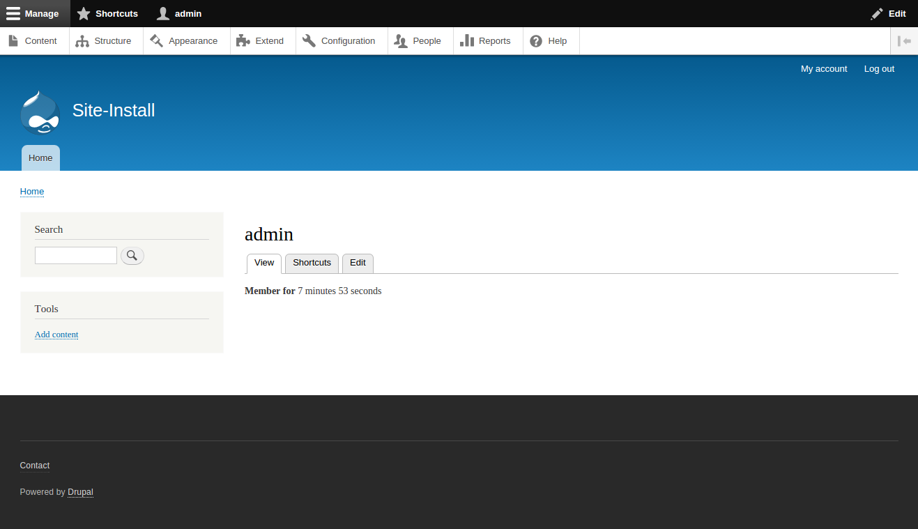 Drupal 8 Home Page