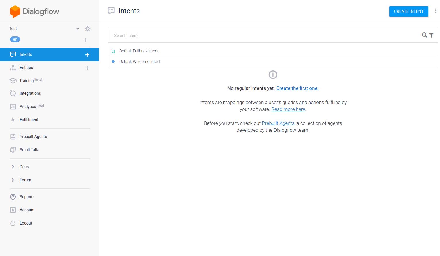 Google Assistant - Dialogflow