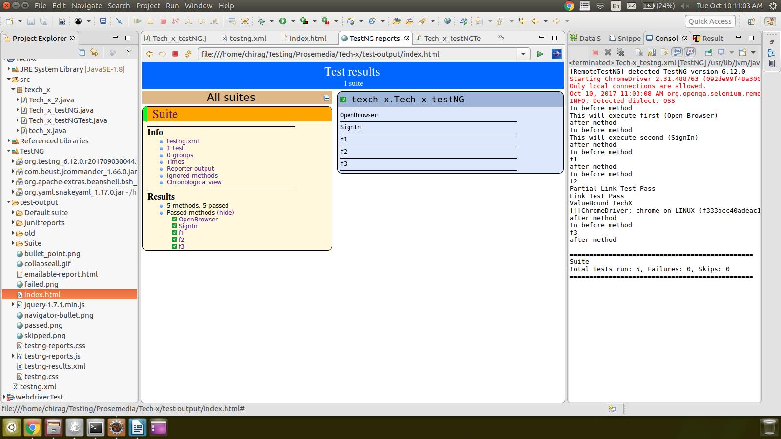 HTML Report