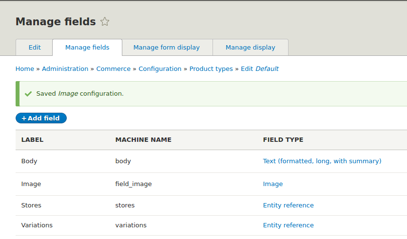 New Image Field in Product Type