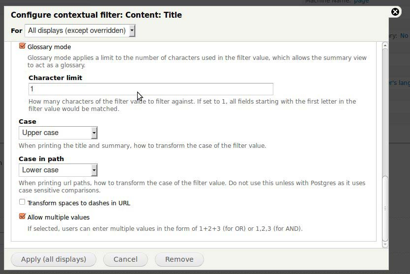 How to Configure a Contextual Filter on a Drupal Website