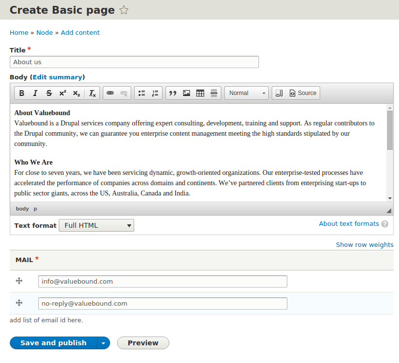 Creating Home Page And Basic Pages Valuebound