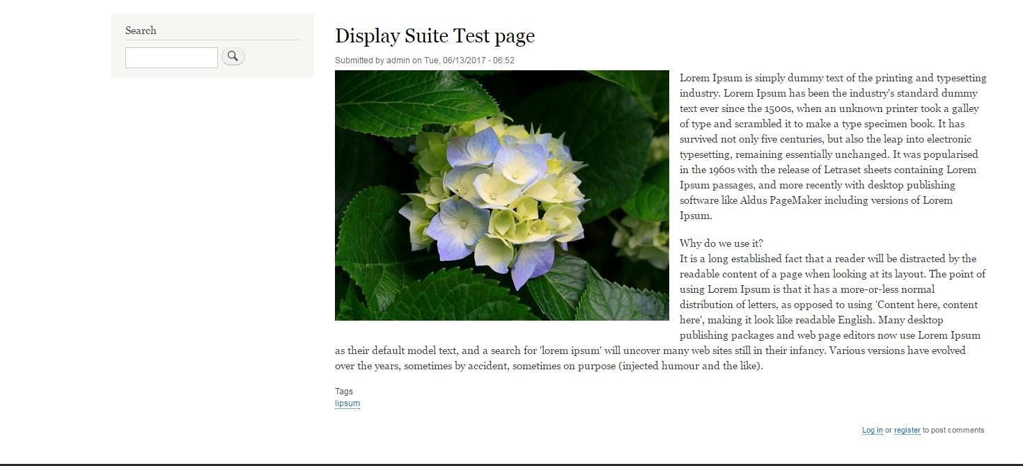 Default article node view
