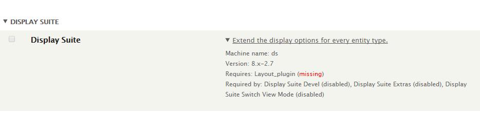 Display Suite enable