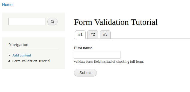 form validation tutorial 1