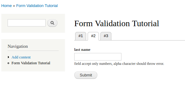 form validation tutorial 2