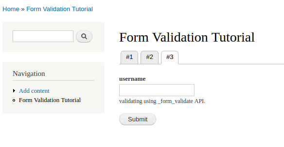 form validation tutorial 3