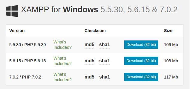 XAMPP for Windows 5.5.30