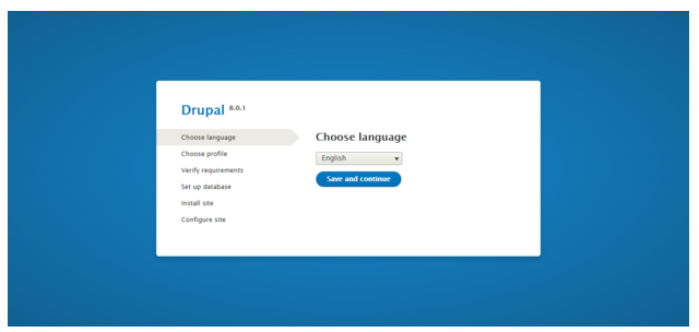 Drupal installation - Choose language