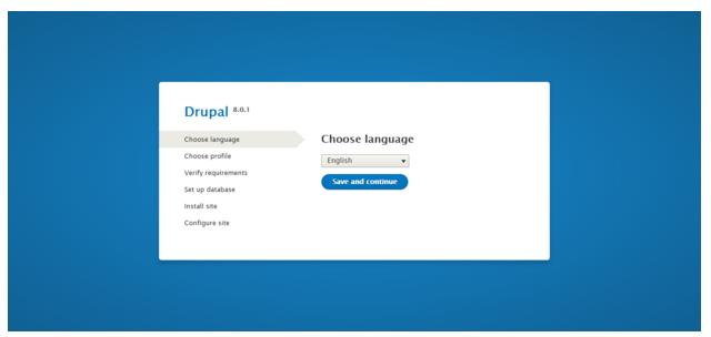 Drupal installation - Choose language