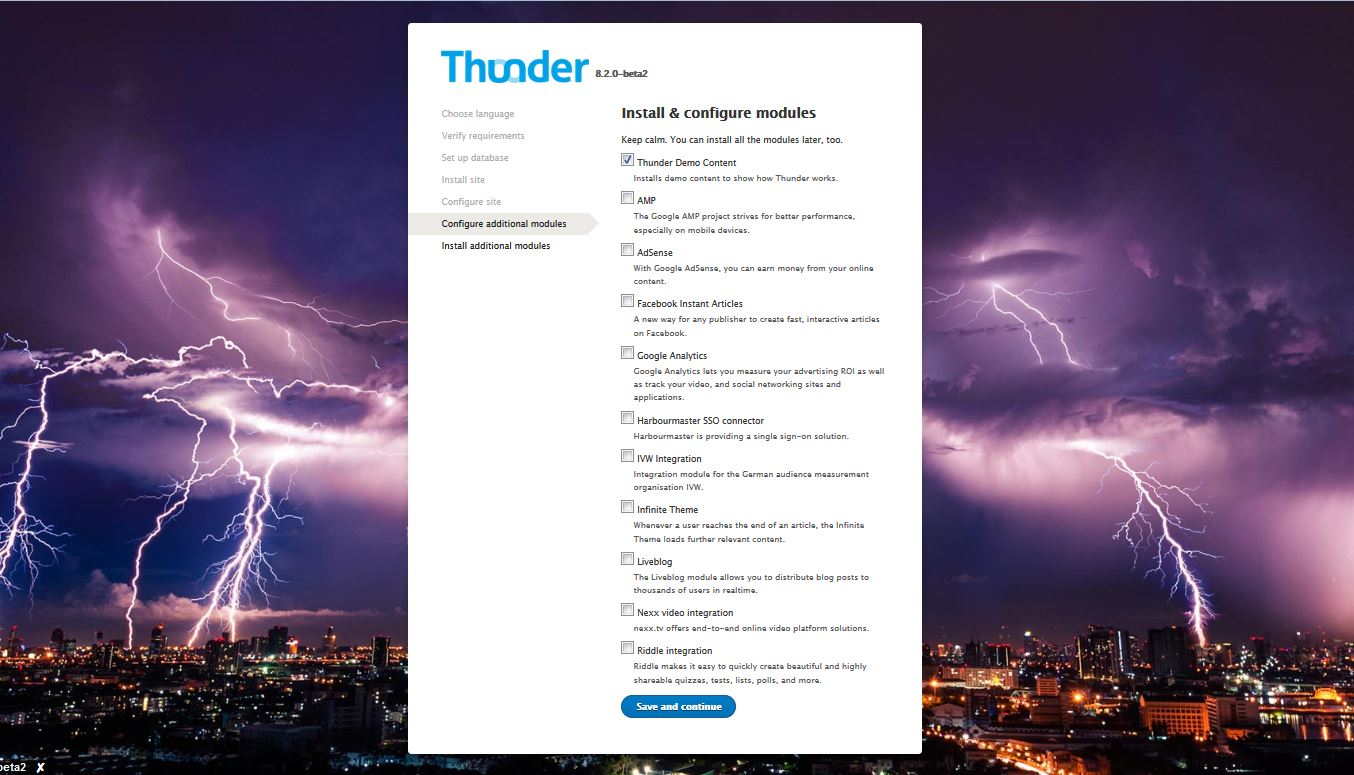 Thunder features